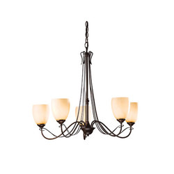 Trellis 5 Arm Chandelier | Ceiling suspended chandeliers | Hubbardton Forge