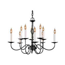 Twist Basket 10 Arm Chandelier | Ceiling suspended chandeliers | Hubbardton Forge