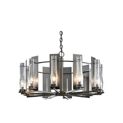 New Town 10 Arm Chandelier | Ceiling suspended chandeliers | Hubbardton Forge
