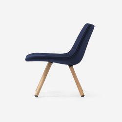 Volley Chair with four legs | Lounge chairs | Resident