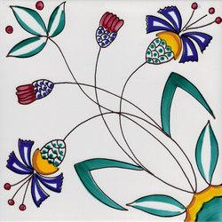 LR PO Fiore stilizzato | Piastrelle/mattonelle per pavimenti | La Riggiola