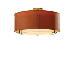 Exos Large Double Shade Semi-Flush | General lighting | Hubbardton Forge