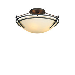 Presidio Tryne Small Semi-Flush | Iluminación general | Hubbardton Forge