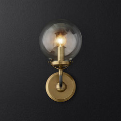 Bistro Globe Clear Glass Single Sconce | Iluminación general | RH Contract