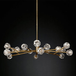 Boule De Cristal Round Chandelier | General lighting | RH Contract