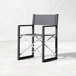 Director's Outdoor Aluminum Armchair | Sedie da giardino | RH Contract