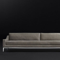 Italia Slope Arm Leather Sofa | Canapés d'attente | RH Contract