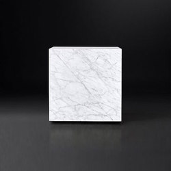 Marble Plinth Cube Side Table | Tables basses | RH Contract