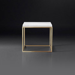 Nicholas Marble Square Side Table | Tavolini di servizio | RH Contract