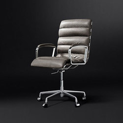 Oviedo Leather Desk Chair | Sedie girevoli da lavoro | RH Contract