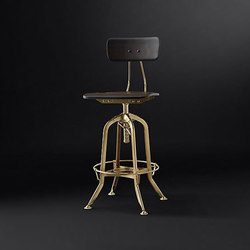 Vintage Toledo Bar Chair | Sgabelli bar | RH Contract
