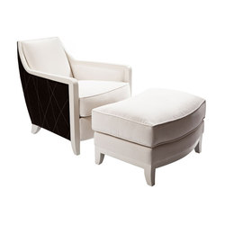 Davenport Chair and Ottoman | Armchairs | Powell & Bonnell