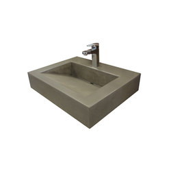 "ADA 24"" Floating Vallum Concrete Sink 