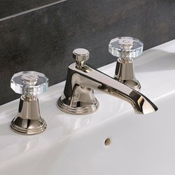 Style Moderne 3 hole basin filler with pop-up waste | Wash basin taps | Samuel Heath