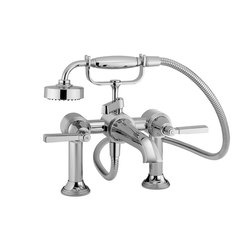 Style Moderne Deck mounted bath shower mixer - V6K30M | Bath taps | Samuel Heath