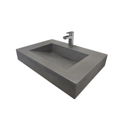 "ADA 30"" Floating Vallum Concrete Sink 