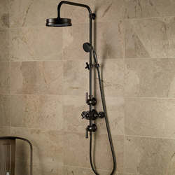 Style Moderne exposed 12 thermostatic shower set | Shower controls | Samuel Heath
