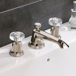 Style Moderne FE 3 hole basin with roundels and props | Wash-basin taps | Samuel Heath
