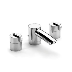 Xenon 3 hole basin filler, deck mounted with pop-up waste | Wash basin taps | Samuel Heath