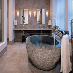 Oval Bathtub Blue-Gray Granite | Free-standing baths | Stone Forest