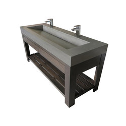 "Lavare 60"" Vallum Concrete Sink with Drawer 