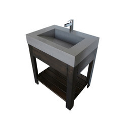 Lavare 30DV Concrete Vanity Sink with Drawer | Waschplätze | Trueform Concrete