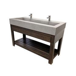 "Lavare 60"" Rectangle Concrete Sink with Drawer | Vanity units | Trueform Concrete"