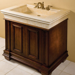 Bordeaux Vanity, Jerusalem Gold Limestone | Wash basins | Stone Forest