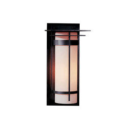 Banded with Top Plate Large Outdoor Sconce | Allgemeinbeleuchtung | Hubbardton Forge