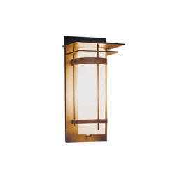 Banded with Top Plate Outdoor Sconce | Allgemeinbeleuchtung | Hubbardton Forge