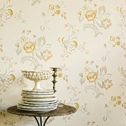 Fleurs Rococo | Wall coverings / wallpapers | Zoffany