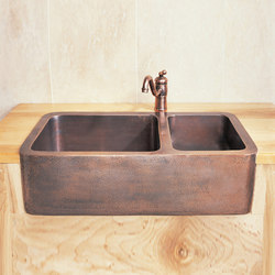 Copper Double Basin Farmhouse Sink | Küchenspülbecken | Stone Forest