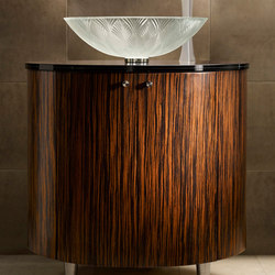Freestanding Basin in Starphire with Palmier Engraving and Oval Vanity | Wash basins | Vitraform