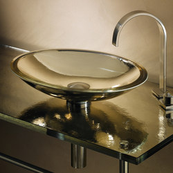Freestanding Oval ADA Basin in Cristal Antique Mirror | Lavabos | Vitraform