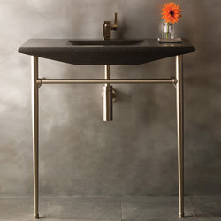 Cortina Console, Honed Basalt | Wash basins | Stone Forest