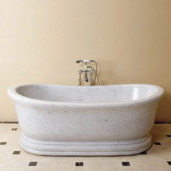 Old World Bathtub, Carrara Marble | Baignoires | Stone Forest