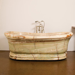 Old World Bathtub, Multi Color Onyx | Baignoires ilôts | Stone Forest