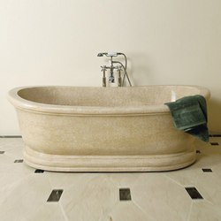 Old World Bathtub, Papiro Cream Marble | Freistehend | Stone Forest