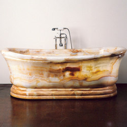 Old World Bathtub, White Onyx | Freistehend | Stone Forest