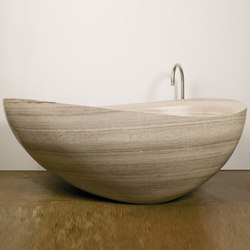 Papillon Bathtub, Siena Silver Grey Marble | Free-standing baths | Stone Forest