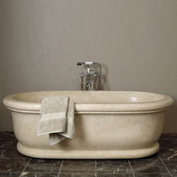 Roman Bathtub, Papiro Cream Marble | Free-standing baths | Stone Forest