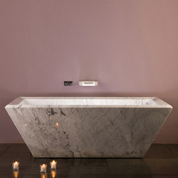 Rubix Tub, Carrara Marble | Bathtubs | Stone Forest