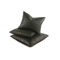Vespa Woven Leather Pillow | Coussins | Pfeifer Studio