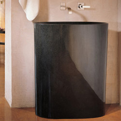 Infinity Pedestal Sink, black granite | Wash basins | Stone Forest