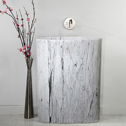 Infinity Pedestal Sink, carrara marble | Wash basins | Stone Forest