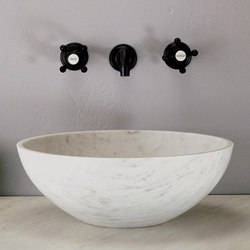 Urban Vessel Sink, Carrara Marble | Wash basins | Stone Forest