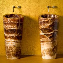 Veneto Pedestal Sink, Amber Onyx | Lavabi / Lavandini | Stone Forest