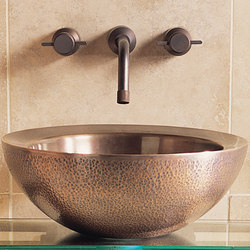 Small Beveled Vessel Sink, Copper | Wash basins | Stone Forest