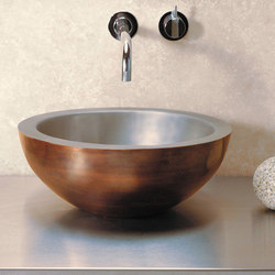 Small Beveled Vessel Sink, Copper-Stainless | Wash basins | Stone Forest