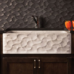 Wave Front Farmhouse Sink, carrara marble | Kitchen sinks | Stone Forest